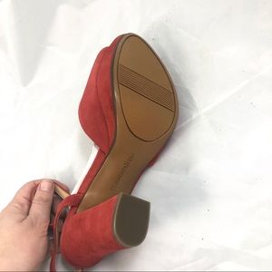 06b6702053 Naturalizer Shoes - Naturalizer Adelle Red Suede Open Toe Heels 8
